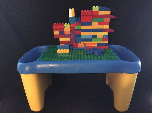 Lego / Duplo /Mega Blok table with side storage