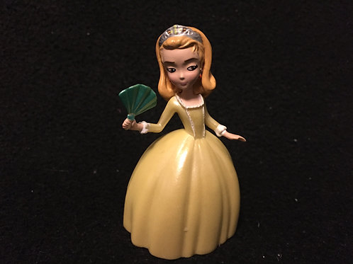 Princess Amber in a yellow ball gown figure/Cake T