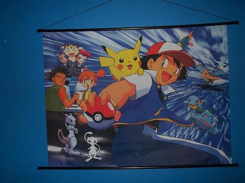 Pokemon Anime Fabric Wall Scroll Poster #2