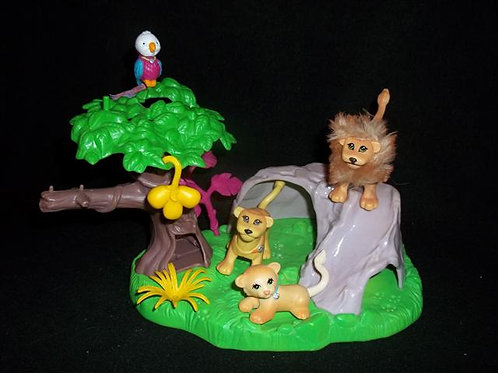Littlest pet shop lion family Vintage 1994
