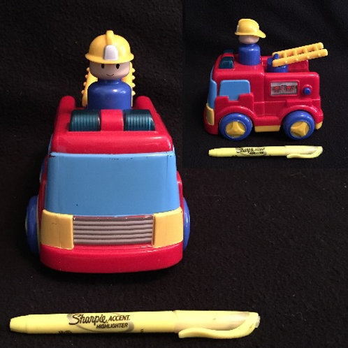 Megcos Push and Go Fire Truck-