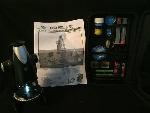 Edu Science 600x Dual Slide Student Microscope set