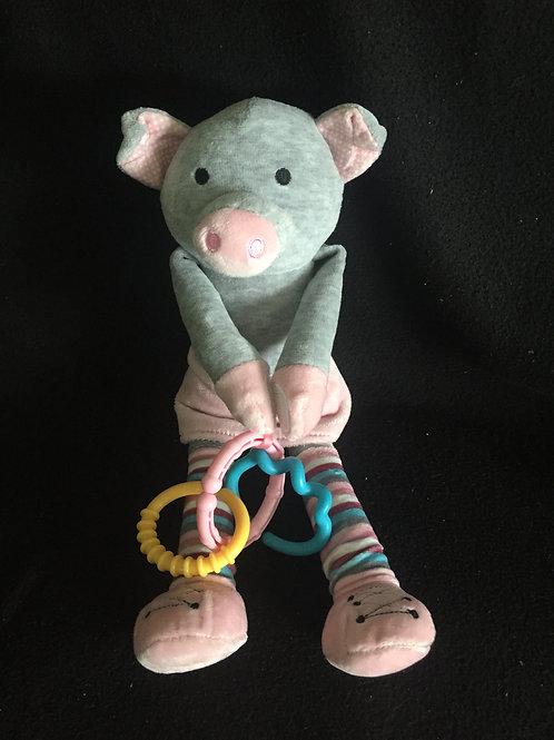 Scentsy Buddy Sidekick Pippy Pig Grey Pink Plush Stuffed Animal