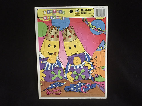 Bananas in Pajamas -  Golden Book Vintage Frame Tray Puzzle 1996 12 pieces ages