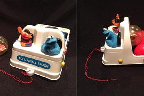 Sesame Street Roll a Ball Truck*Vintage  1989