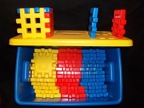 Little Tikes Primary Waffle Block Set