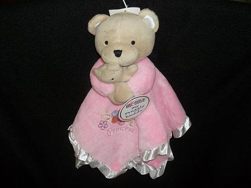 Okie Dokie Princess Bears Pink Security Blanket