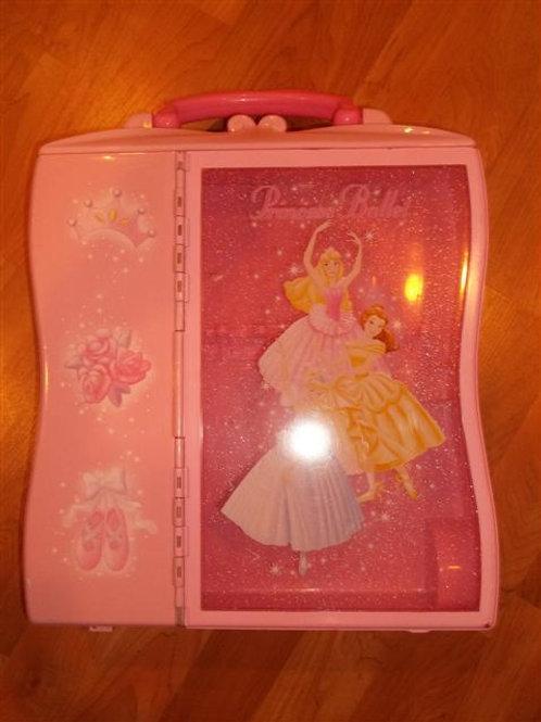 Disney Princess Ballet Doll Storage Rolling Travel