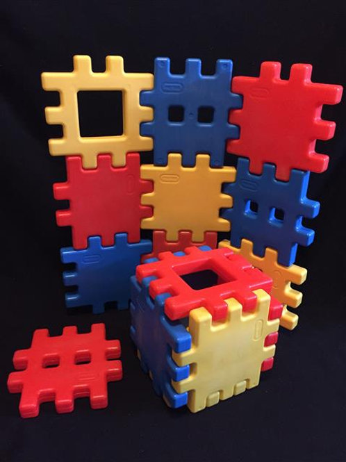 "Little Tikes Waffle Blocks Medium Size 8""x8""set#1"