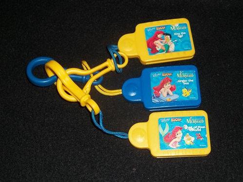 Disney Tunes Kid Clips Music Chips 3 Pk Mermaid