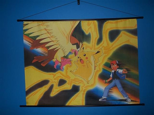 Pokemon Anime Fabric Wall Scroll Poster #1