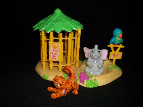 Littlest Pet Shop Jungle Hut Set 1993