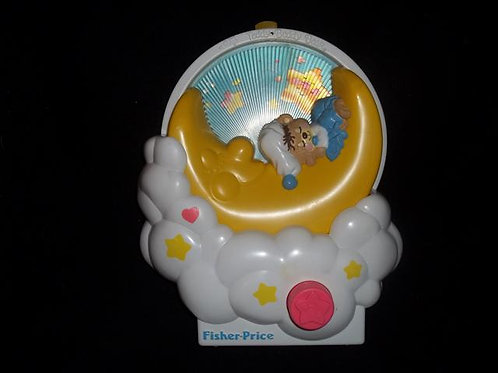 Fisher Price Crib Music Box Moon #1402 (1985)
