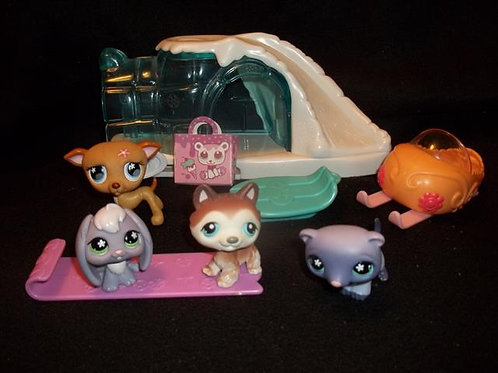 Littlest Pet Shop Igloo Lot