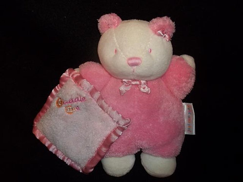 Carter's Cuddle Me Pink Bear Lovey Rattle Doll