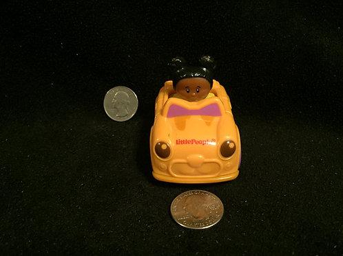 Little People Wheelies Girl/Yellow Car