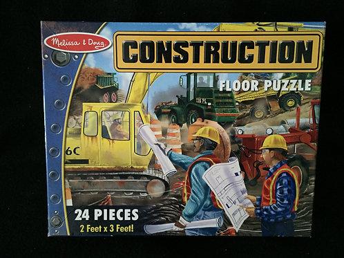 Melissa & Doug Construction Floor Puzzle - 24 p