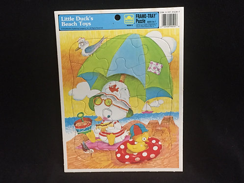 Little Duck's Beach toys GoldenVintage Frame Tray Puzzle 1979 12 pieces