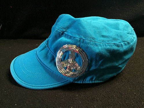 Justice Hat With Sequins Peace Symbol (One Size)