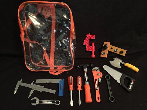 Black And Decker Junior Tool Backpack Set