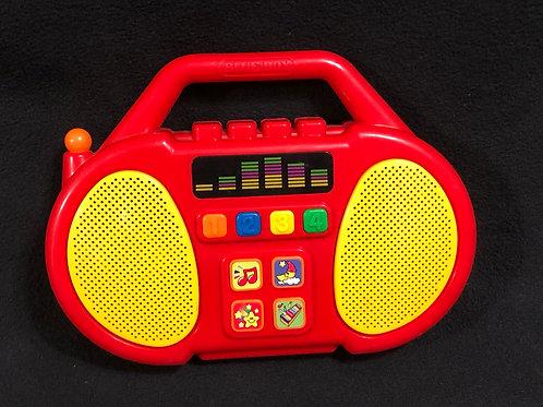 Blue Box Radio Boombox Toy