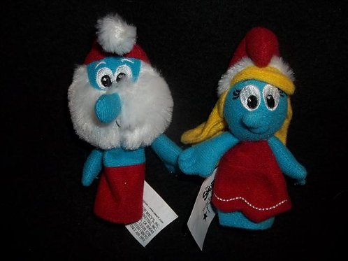 Holiday Smurf with Finger Puppets