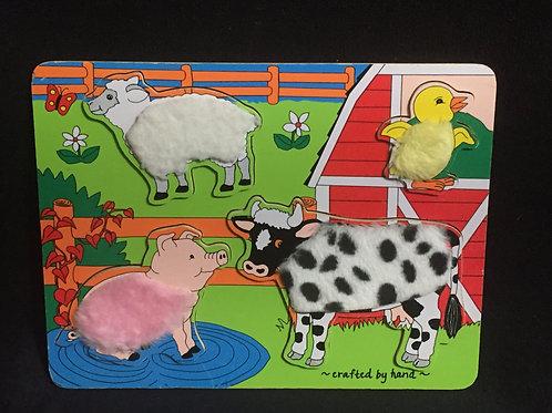 Melissa & Doug Farm Friends Fuzzy Puzzle