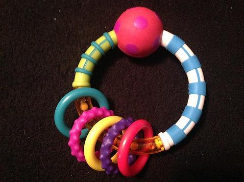 Sassy Teething Activity Ring (Red ball)
