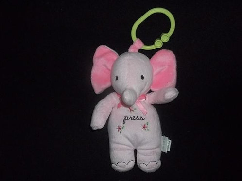 CARTERS Baby Plush Pink Elephant 'Rock-a-bye Baby