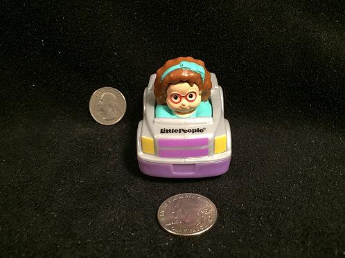 Little People Wheelies Girl/Grey/Purple Car