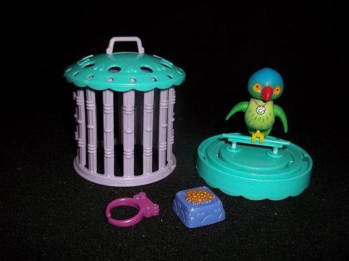 Littlest Pet Shop Ticklish Toucan Bird & Cage 1993