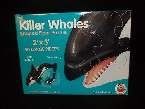Killer Whales Floor Puzzle Shaped Floor Puzzle