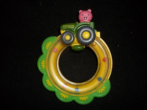 First Years John Deere Tractor Ring Rattle