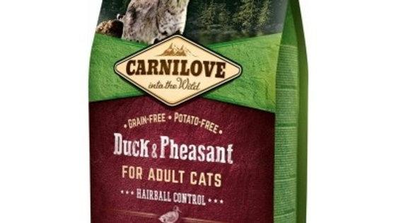 Carnilove Adult Cat au canard et faisan Spécial boules de poils 2kg