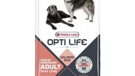 OPTI LIFE Adult Skin Care Medium & Maxi au saumon 12,5kg