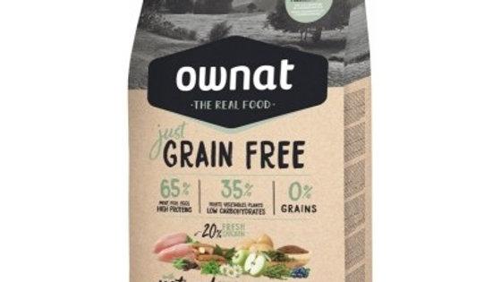 OWNAT Just Grain Free Adult au poulet - 14kg