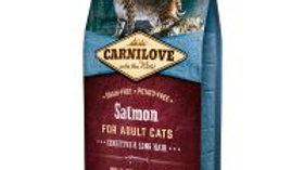 Carnilove Adult Sensitive and Long Hair, saumon & hareng 6kg