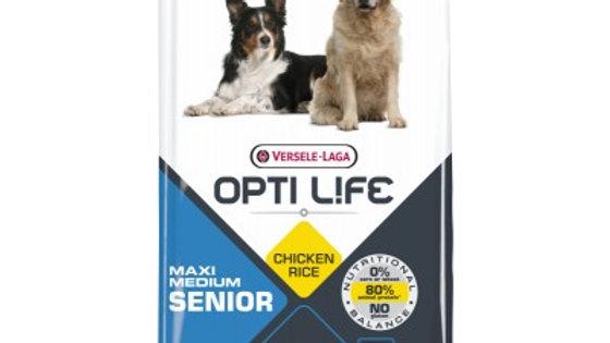 OPTI LIFE Senior Medium & Maxi au poulet - 12.5kg