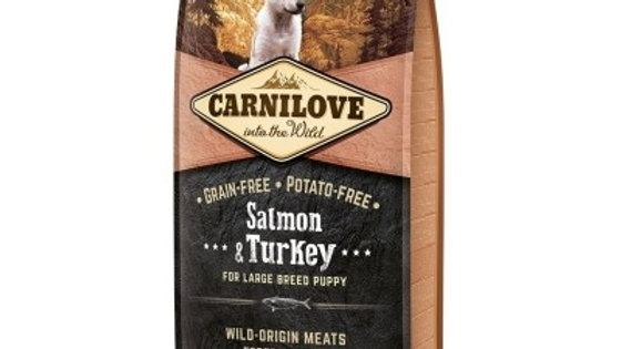 CARNILOVE Puppy Large Breed Saumon et Dinde pour chiot 12kg