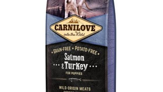 CARNILOVE Puppy Saumon et Dinde pour chiot 12kg