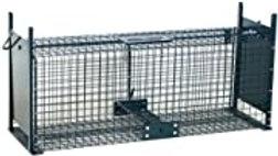 Piège de Capture - Cage - L - pour Petits Animaux : Lapins, Rats - 61x21x23cm