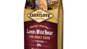 Carnilove Adult Cat Agneau et Sanglier pour chats stérilisés 2kg