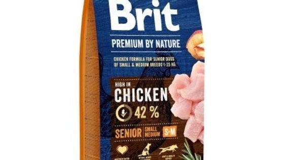BRIT Premium By Nature Senior S+M - 15kg