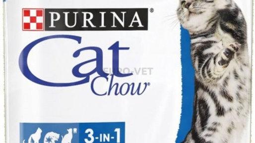 CAT CHOW Feline 3 en 1 pour chat adulte 15kg