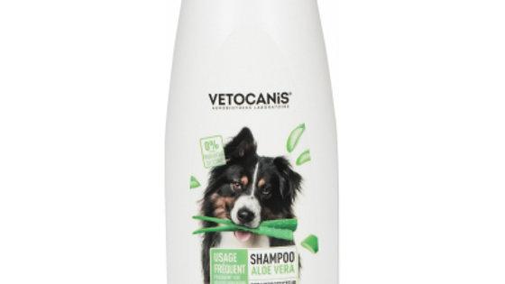 Shampoing pour Chien Usage Fréquent à l'Aloé Vera 750ml Vetocanis