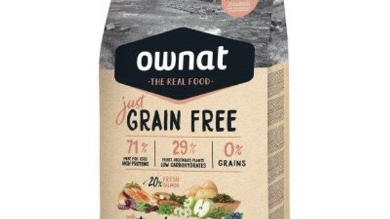 OWNAT Just Grain Free Adult au saumon & poissons pour chien adulte 14kg
