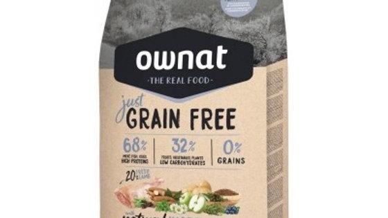 OWNAT Just Grain Free Adult à l'agneau - 14kg
