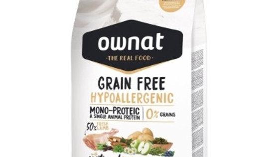 OWNAT Grain Free Hypoallergenic à l'agneau - 14kg