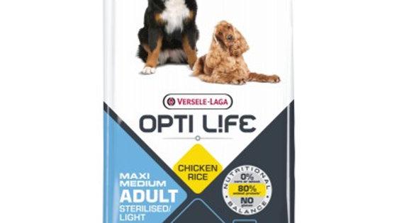 OPTI LIFE Maxi & Medium Light poulet 12.5kg