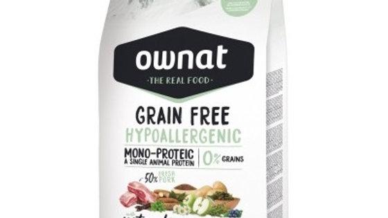 OWNAT Grain Free Hypoallergenic au porc - 14kg